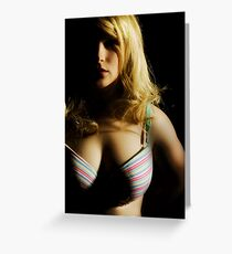 Emily in a bra *gasp* Greeting Card