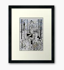 l'adoration de la tentation Framed Print
