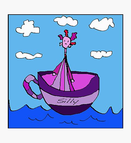 Silly Sailed Away In A Teacup Photographic Print