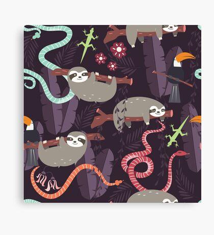 Rain forest animals 006 Canvas Print