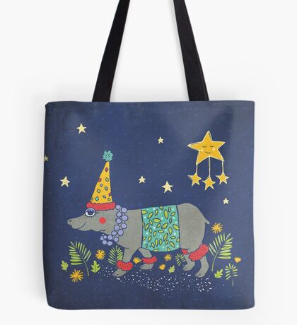 Party Hippo Tote Bag