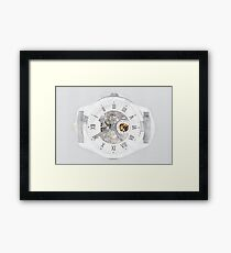 Mechanical Watch Concept With Visible Mechanism Framed Print