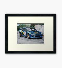 Colin McRae Subaru Impretza Framed Print