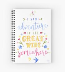 Beauty and the Beast Adventure Typography Spiral Notebook