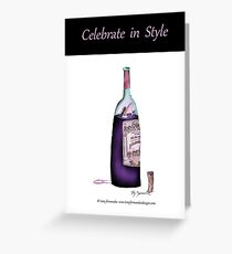 Tony Fernandes's ....'celebrate in style' Greeting Card