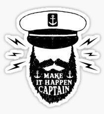 Make It Happen Captain Sticker