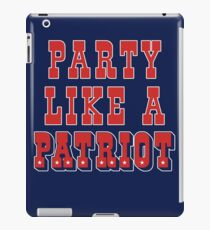Party Like A Patriot! iPad Case/Skin