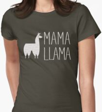 Mama Llama No Problama Funny Llamafest Graphic Tee Shirt Womens Fitted T-Shirt