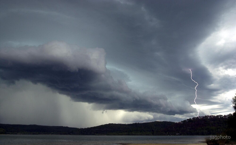 Storm front over Narrabeen lakes by jagphoto
