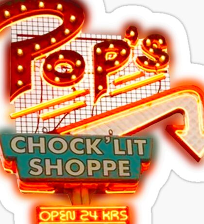 RIVERDALE: POP'S CHOCK'LIT SHOP neon sigh Sticker
