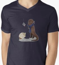 animalock Men's V-Neck T-Shirt