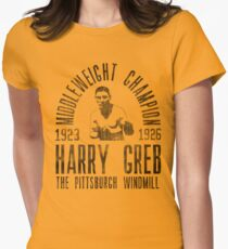 Harry Greb Womens Fitted T-Shirt