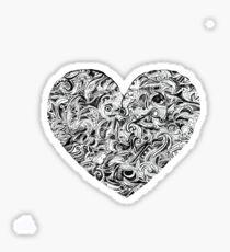 Doodle Heart Sticker