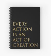 Act of Creation Spiral Notebook