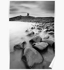 Dunstanburgh Rocks Poster