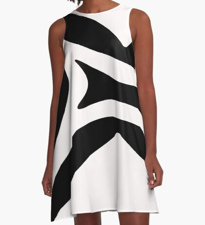 Design in Black and White by Julie Everhart A-Line Dress
