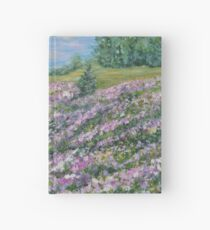 Thoughtful Meadow, impressionism landscape Hardcover Journal