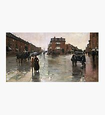 Childe Hassam - Rainy Day, Boston (1885) Photographic Print