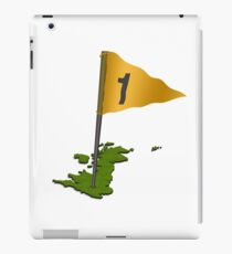 3d putting green in the shape of the UK with flag  iPad Case/Skin