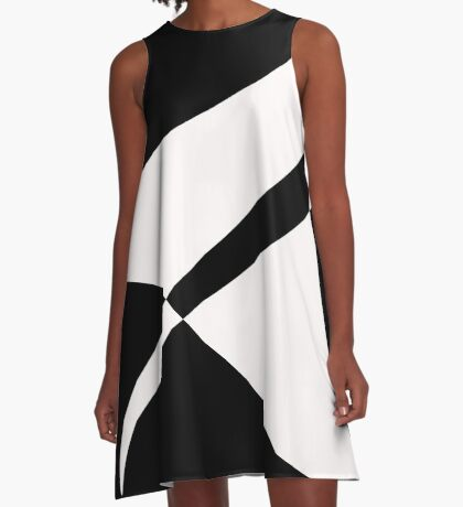 Black and White with a Twist by Julie Everhart A-Line Dress