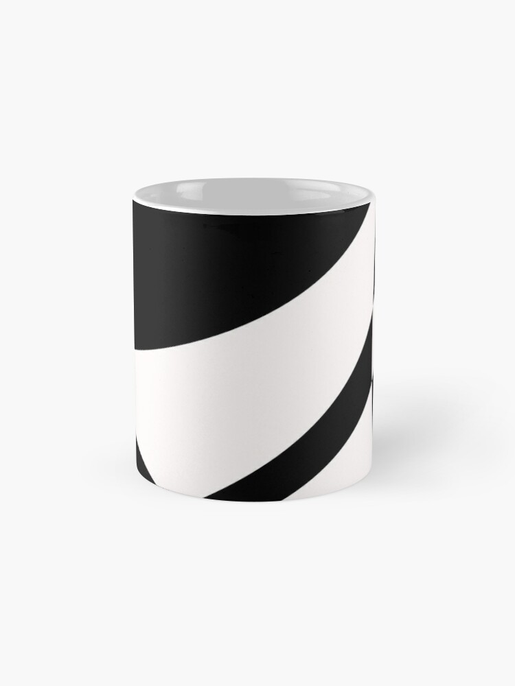 Alternate view of Black and White with a Twist by Julie Everhart Mug