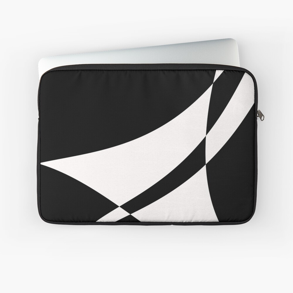 Black and White with a Twist by Julie Everhart Laptop Sleeve
