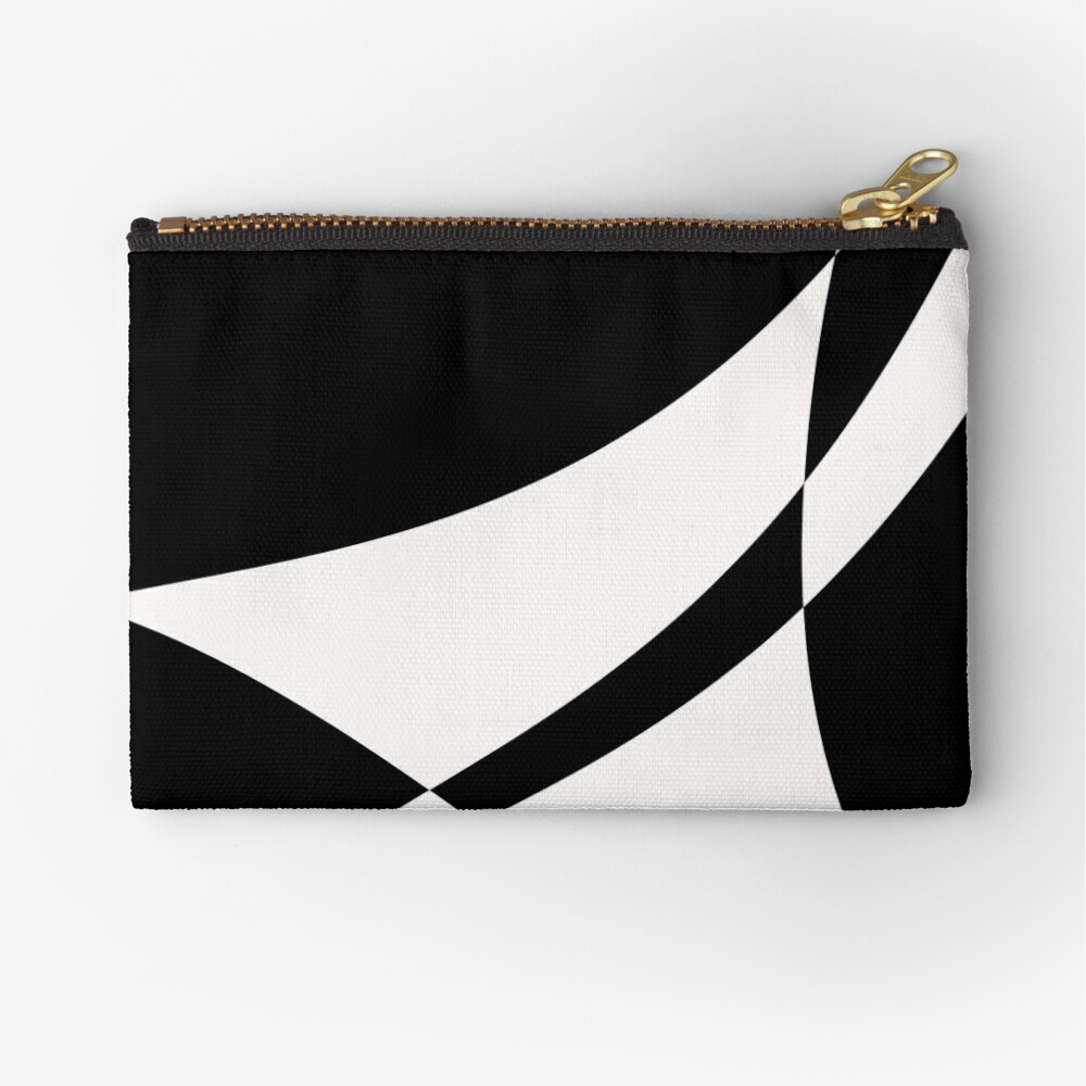 Black and White with a Twist by Julie Everhart Zipper Pouch