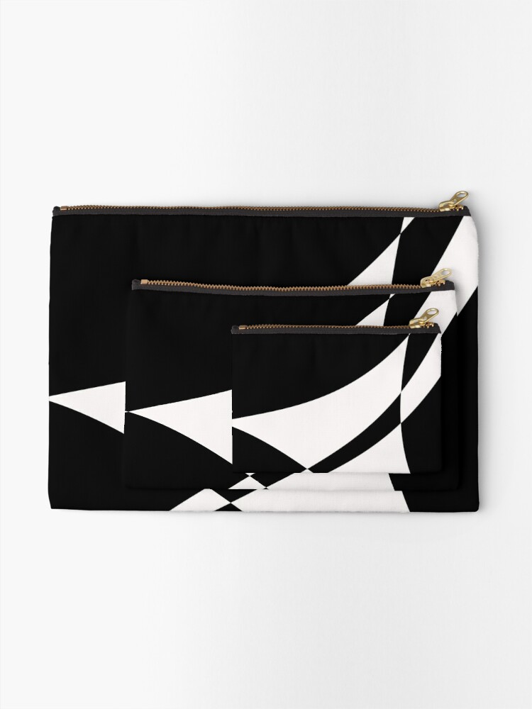 Alternate view of Black and White with a Twist by Julie Everhart Zipper Pouch