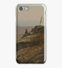 The Artist Sketching at Mount Desert, Maine, 1864-1865 - Sanford Robinson Gifford iPhone Case/Skin