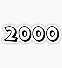 The Year 2000 Sticker