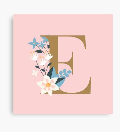 Monogram E Canvas Print