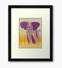 Elephant Conservation Illustration Framed Print