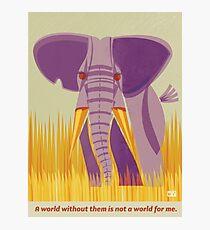 Elephant Conservation Illustration Photographic Print