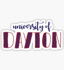university of dayton multicolor Sticker