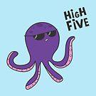 High Five Octopus! by cartoonbeing