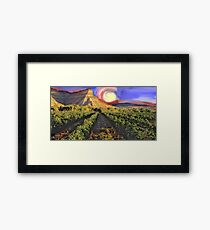 Colorado C in Sunset Framed Print