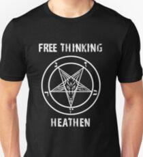 """Free Think Heathen"" Baphomet T-Shirt"