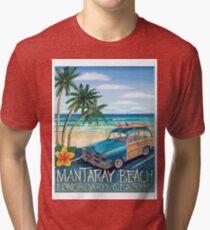Mantaray Beach Tri-blend T-Shirt