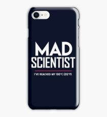 Mad Scientist: Science March Protest (I've Reached my Boiling Point) iPhone Case/Skin