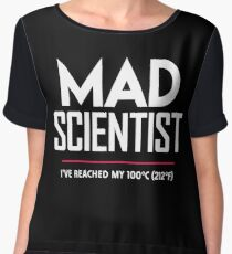 Mad Scientist: Science March Protest (I've Reached my Boiling Point) Women's Chiffon Top