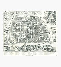 Old Map Of Pavia, Italy Photographic Print