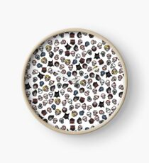 The Binding of Isaac characters pattern Clock