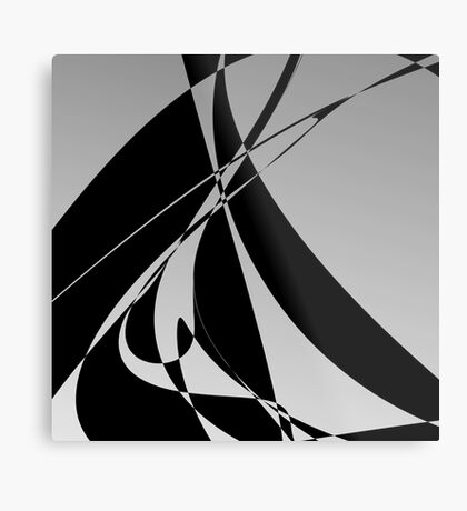 Ombre Gray Design by Julie Everhart Metal Print