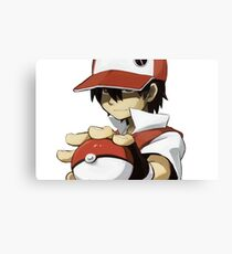 Pokemon - Trainer red Canvas Print