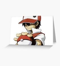 Pokemon - Trainer red Greeting Card