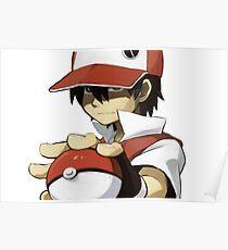 Pokemon - Trainer red Poster