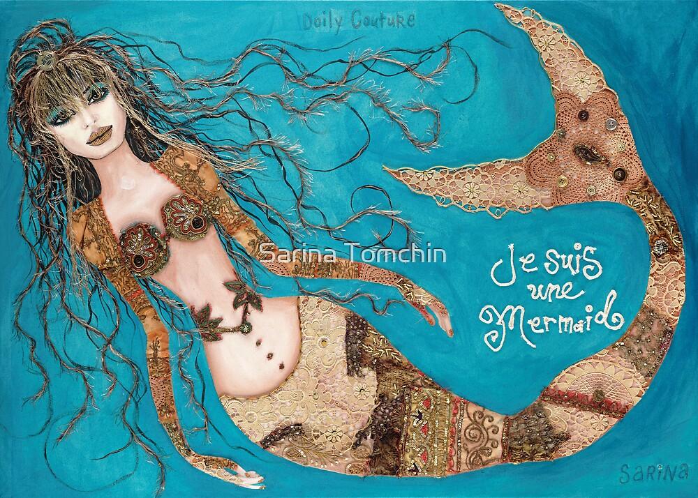 Je Suis Une Mermaid - Sand with Aqua by Sarina Tomchin
