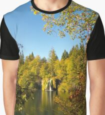 The waterfall between the trees II Graphic T-Shirt