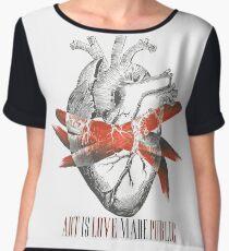 Art is love made public Chiffon Top