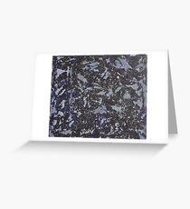 Black and White Ink on Violet Background Greeting Card